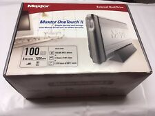 Maxtor One Touch II 100 GB USB 2.0 External Hard Drive E01E100 BRAND NEW IN BOX