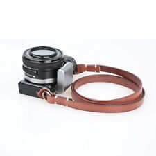 CANPIS Brown Genuine Leather Camera Neck Shoulder Strap for SLR DSLR Leica Fuji