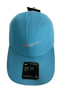 Nike AeroBill Featherlight Run Cap Blue Dri-Fit Hat Running Training Run Unisex