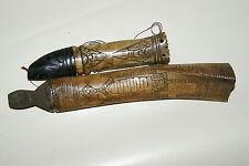 2 Old Shaman Buffalo Bone Scrimshaw Betel Containers Frog + Ancestor lids BN31
