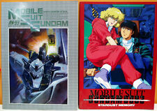 2 MOBILE SUIT GUNDAM VINTAGE NOTEBOOKS STARDUST CHAR'S COUNTER ATTACK ANIME 80s