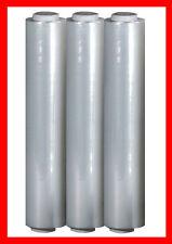 3 Rollen Stretchfolie transparent 500mm x 300m 17my für Handabroller