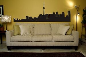 Toronto Skyline, Urban Wall Decals, Urban Wall Art, Apartment Wall Decor