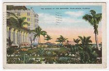 Tea Garden The Breakers Palm Beach Florida postcard