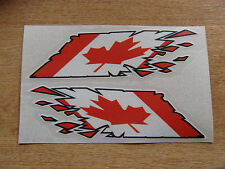 """Canada / Canadian Flag  """"ripped"""" style stickers - 300mm decals x2 LARGE"""