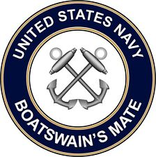 "Navy Boatswains Mate Bm 5.5"" Die Cut Sticker / Decal 'Officially Licensed'"