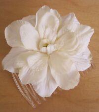 "2 1/2"" Cream White Apple Blossom  Silk Flower  Hair Comb, Luau,Wedding,Prom"