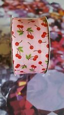 cherry fruit 1 1/2 grossgrain ribbon new 4 yards cherries craft bows