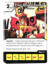Marvel Dice Masters Deadpool, Free Chimichangas Delicious 17/124 W/Dice