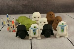 Star Wars Cupcake or Cake Toppers Vader Stormtrooper Wookie Yoda R2D2 X-Wing