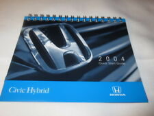HONDA Civic Hybrid 2004 Quick Start Guide - Owners Reference Manual