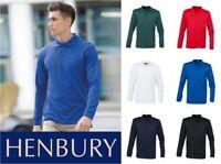 Henbury - Long Sleeve Coolplus Pique Polo Shirt - Various Colours - Size XS-XXL