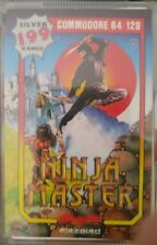 NINJA MASTER Firebird (1987) Commodore CASSETTA c64 (BOX, MANUAL, tape) 100% OK
