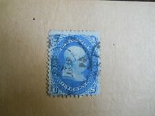 Fine Scott #63 1c Franklin / Black January ?, 1863 Dated Town CDS Fancy Cancel