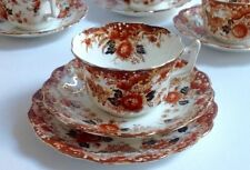 Tea cup Saucer Trio English bone china vintage antique Wellington Rust