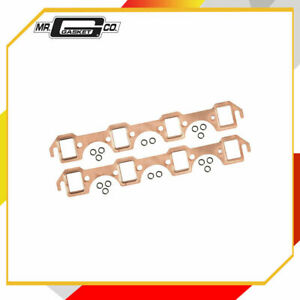 Mr. Gasket 7160 Copper Seal Exhaust Gasket Set Port W-1.12 in. x H-1.48 in.