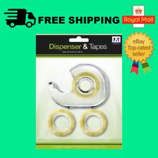 Mini Tape Dispenser Desktop Office Sellotape Sticky Cellotape Pack Holder