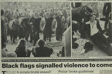 Kopfsteuer Polizei brutal Assault Whitehall London 1990 Zeitung Seite Artikel 6093