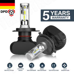 2x H4 LED Scheinwerfer Headlight Lampe Birnen Fern/ Abblendlicht Weiß 6500K DPD