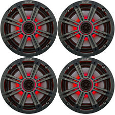 """4 Kicker 6.5"""" 195W LED OEM Replacement Marine Audio Coaxial Speakers"""