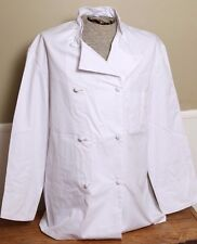 Nwot Chef White Coat Team World Brand Double Breasted Long Sleeve Size Large