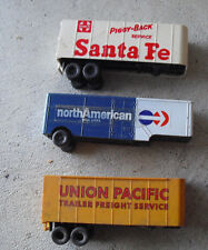 Lot of 3 Vintage Ho Scale Bachmann Truck Trailers Up Sf American Van Lines