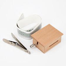 Selbermachen Hand-Cranked Spieldose Holzkiste Geschenk W/Lochung & Papier Tapes
