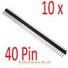 AUSVERKAUF ! 10 x 40pin Stiftleiste gerade kurz straight Steckerleiste RM 2,54mm