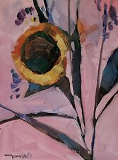 JOSE TRUJILLO Oil Painting IMPRESSIONISM SUNFLOWER ABSTRACT COLLECTIBLE ARTWORK