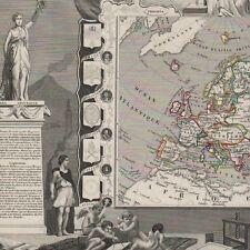 L' Europe  - Carte ancienne 1854 - Géographie Levasseur - Map