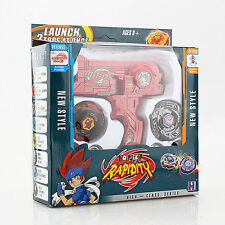4D System METAL FUSION Hybrid Wheel Fight Attack Double Launcher + 2 Beyblade