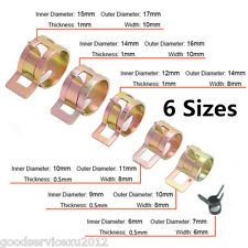 60X Hot Sale Car 6-15mm Spring Clip Fuel Oil Water Hose Pipe Tube Clamp Fastener