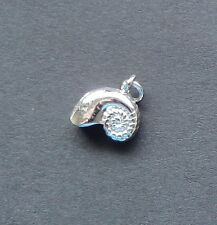 Sea Shell Charm/ Pendant in Sterling 3/D Solid Non Tarnishing