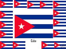 Assortiment lot de10 autocollants Vinyle stickers drapeau Cuba