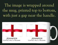 England - St George's Cross Flag - Personalised Mug / Cup