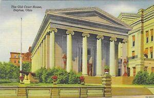 Vintage Ohio Linen Postcard Dayton Old Court House