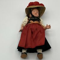 Antique CELLBA WARENFABRIK winged mermaid CELLULOID german bavarian swiss doll