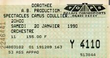 used ticket billet concert DOROTHEE - 20 janvier 1990 Bercy France