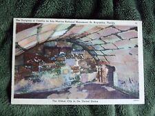 Vintage Postcard The Dungeon Castillo De San Marcos National Monument, Florida