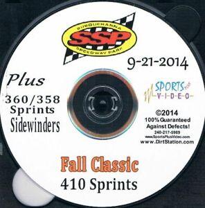 410 Sprintcars Fall Classic DVD From Susquehanna Speedway Park 9-21-2014