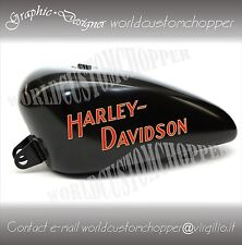 ADESIVI DECAL STICKERS REPLICA HARLEY DAVIDSON RETRO' X SERBATOIO MOTO CUSTOM