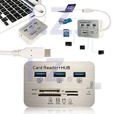 "Type-C to 3Port USB 3.1 Hub+MS SD M2 TF Card Reader for NEW MacBook Pro 13"" 15"""
