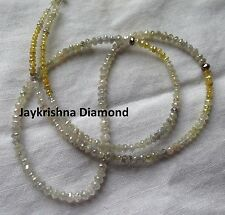 """20+ct natural loose multi color diamonds faceted polish beads 16""""strand necklace"""
