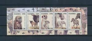LO40881 Namibia 1998 animals fauna flora wildlife good sheet MNH