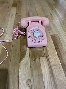 WESTERN ELECTRIC C/D 500 (1960's) PINK Rotary Dial Desk Top Phone Untested