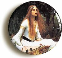 LADY OF SHALLOT JW WATERHOUSE BADGE BUTTON PIN (1inch/25mm) ART PRE-RAPHAELITE