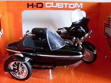 Harley Davidson Modèle, 1998 Electra Glide Side-car, Maisto Moto 1:18