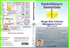 New Embrilliance Essentials Embroidery Software For windows