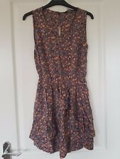 Miss Selfridge Purple Pink Floral Layered Keyhole Skater Dress Size 8 10