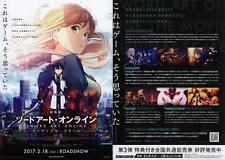 Sword Art Online Ordinal Japanese Anime Chirashi Mini Ad-Flyer Poster 2017 4p B